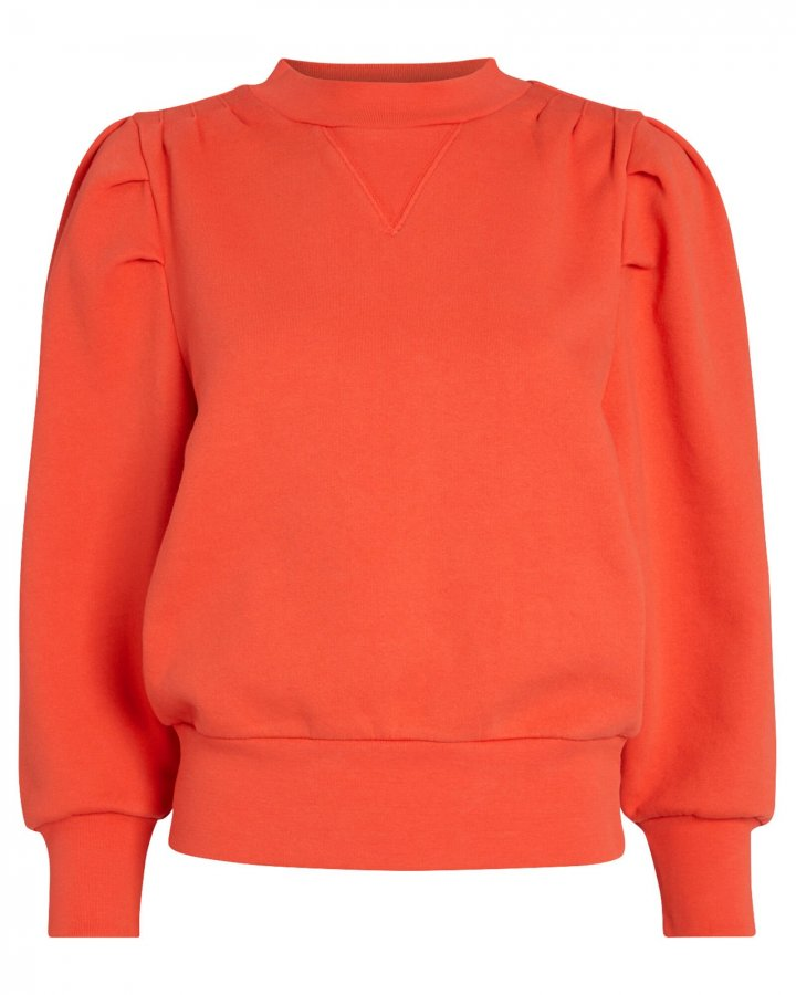 Shirred Puff Sleeve Sweatshirt