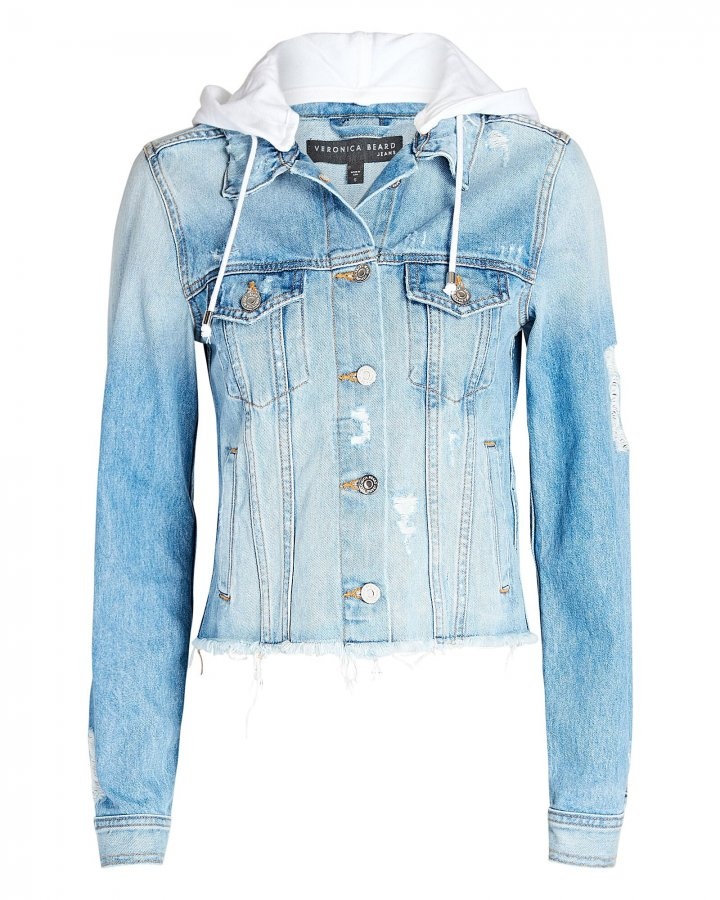 Cara Hooded Denim Jacket