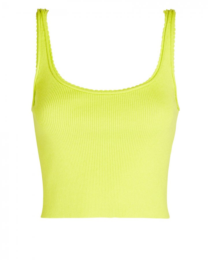 Picot Stitch Cropped Tank Top