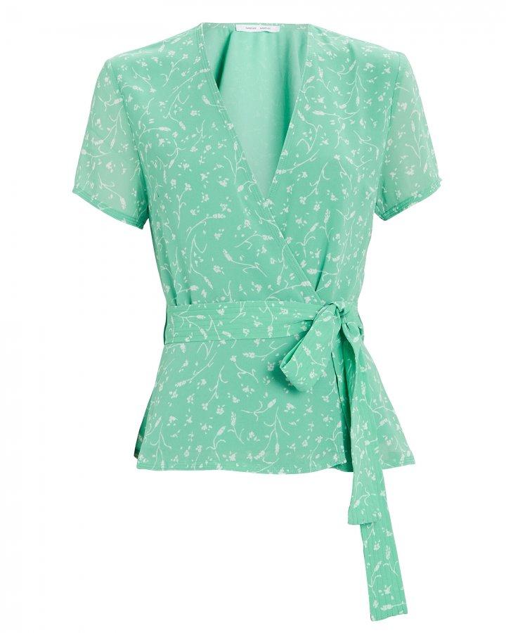 Klea Floral Wrap Top