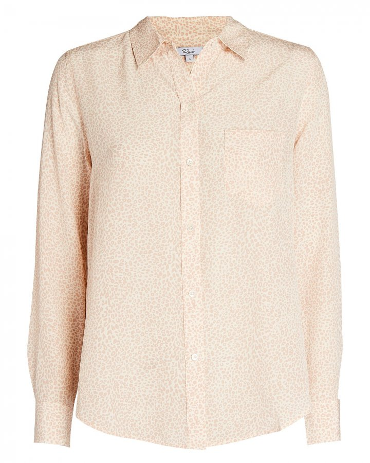 Kate Silk Cheetah Print Shirt
