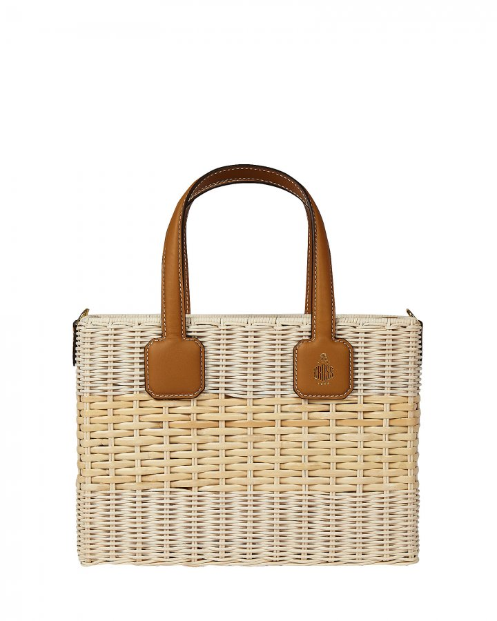 Manray Small Rattan Drawstring Bag