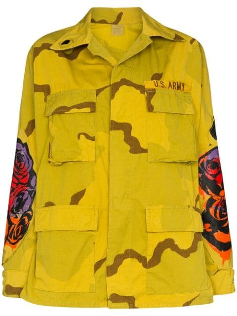 R13 Floral Print military-style Jacket