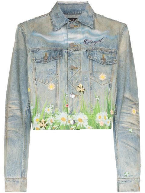 AMIRI Printed Dove Trucker Jacket