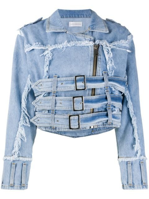 Faith Connexion Distressed Effect Denim Jacket Ss20 | Farfetch.com