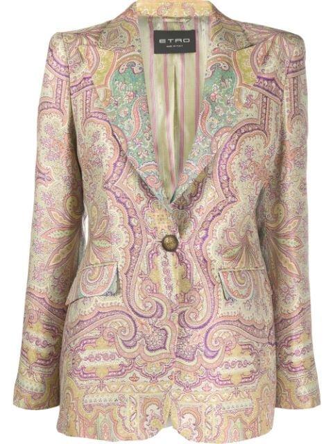 Etro Paisley-Print Blazer Ss20 | Farfetch.com