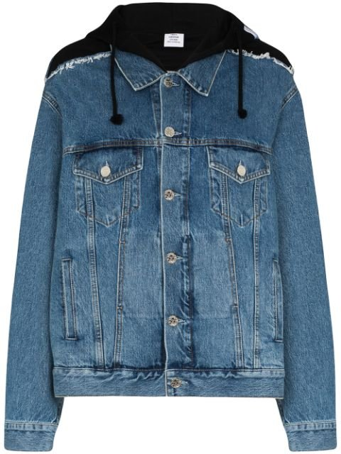 Vetements Oversized Hooded Denim Jacket
