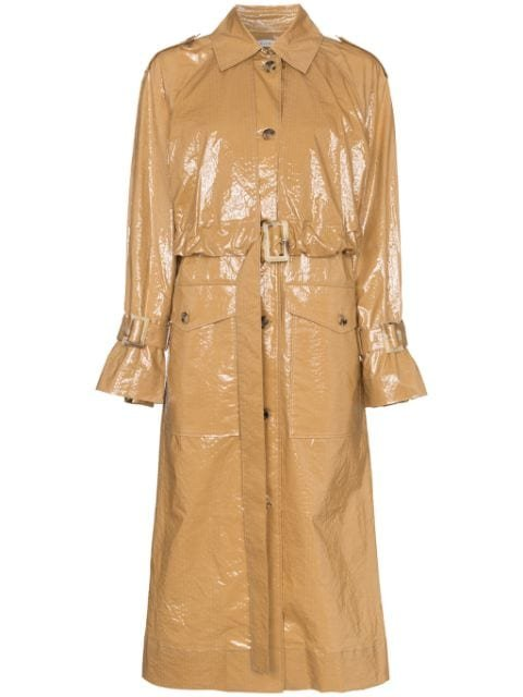 Rejina Pyo Belted Laminated Cotton Trench Coat Aw19 | Farfetch.com