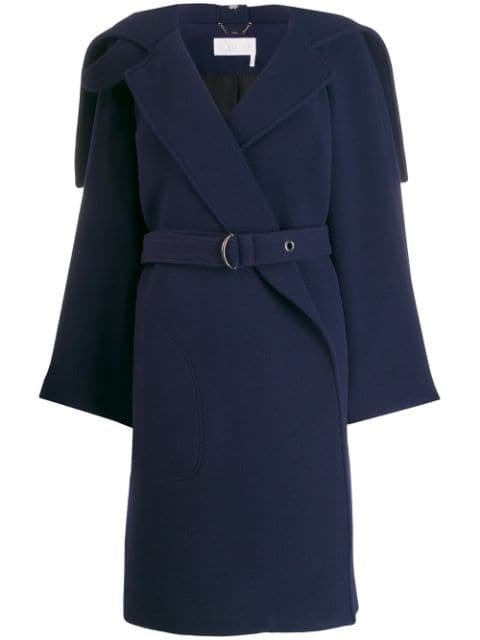 Chloé Wrap-Front Belted Coat Ss20 | Farfetch.com