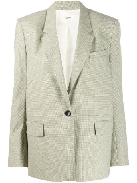 Isabel Marant Étoile One-Button Houndstooth Blazer Ss20 | Farfetch.com