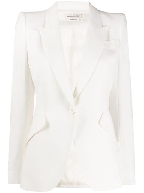 Alexander Mcqueen Structured Shoulder Blazer Ss20 | Farfetch.com