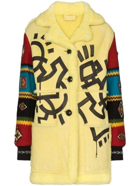 Duran Lantink Aztec Faux Shearling Coat Aw19 | Farfetch.com