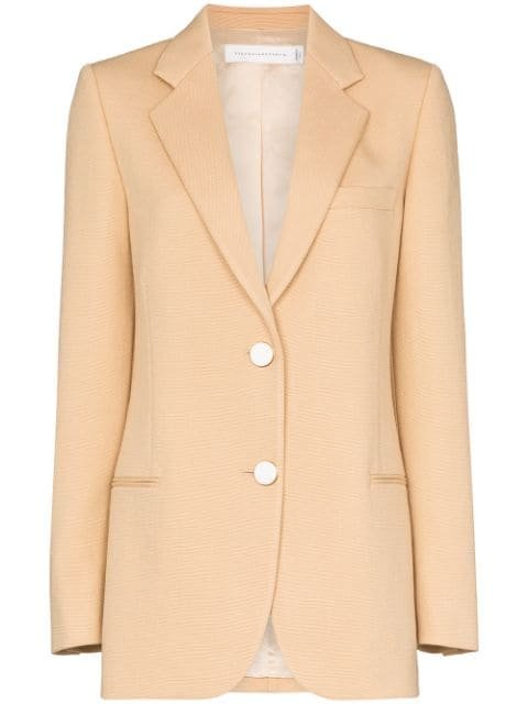 Victoria Beckham Single-Breasted Blazer Jacket Ss20 | Farfetch.com