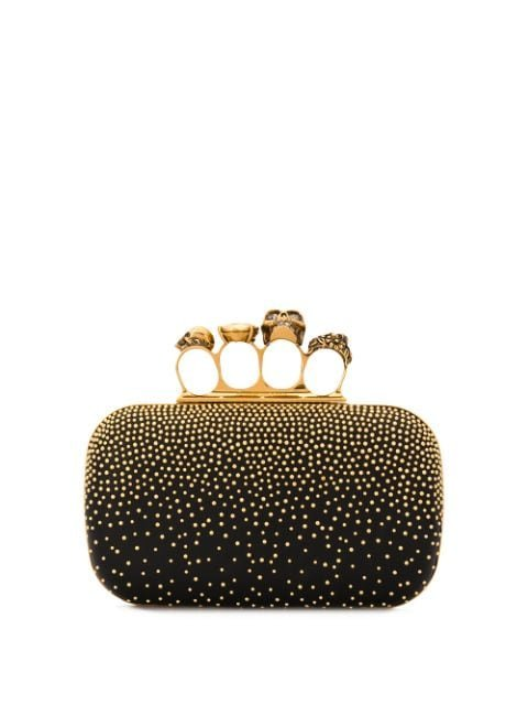 Alexander Mcqueen Four Ring Studded Clutch Ss20 | Farfetch.com