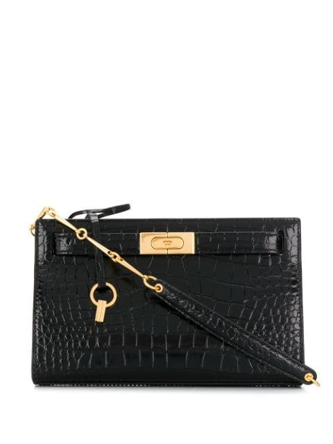 Tory Burch Snakeskin Effect Clutch Bag Aw19 | Farfetch.com
