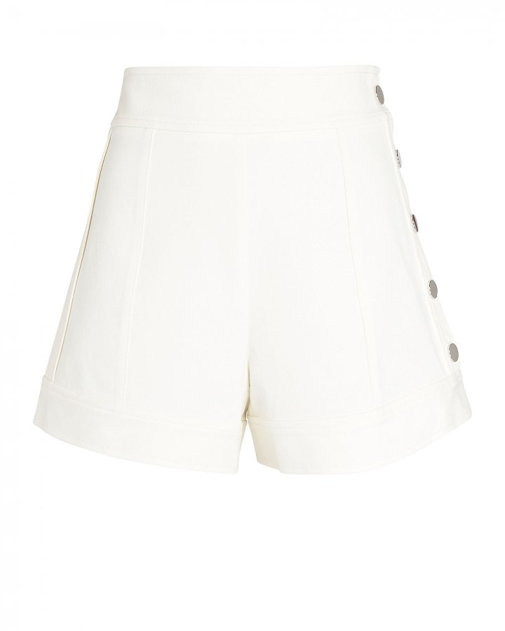 Tailored Cotton-Blend Shorts