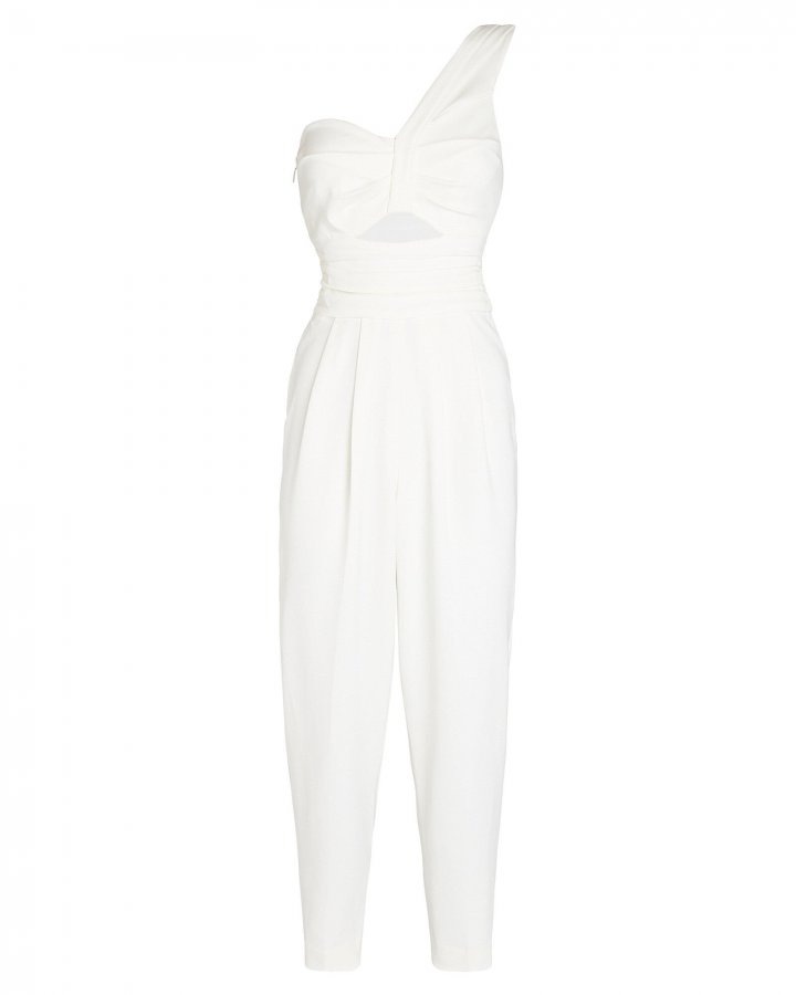 Athena Cropped One-Shoulder Jumpsuit