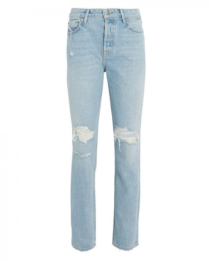 Karolina Distressed High-Rise Jeans