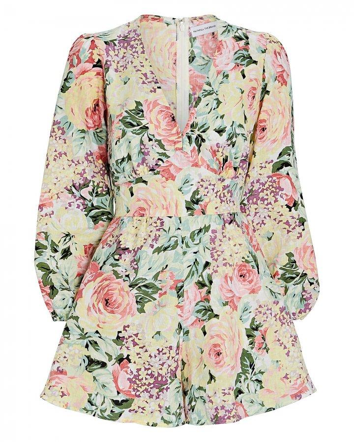 Maribelle Floral Linen Playsuit