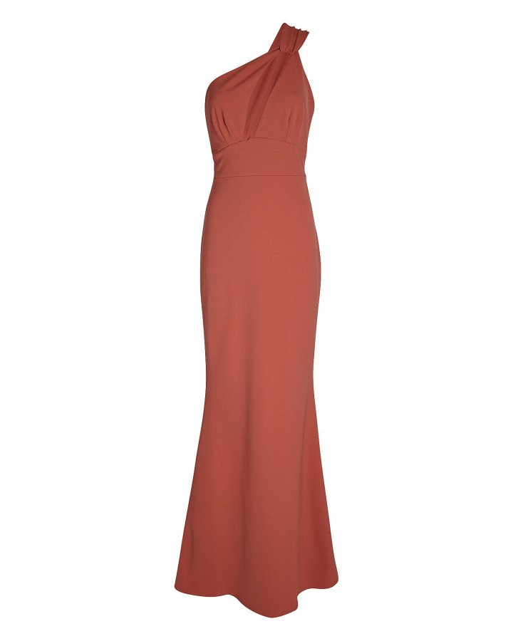 Edgy One-Shoulder Maxi Dress