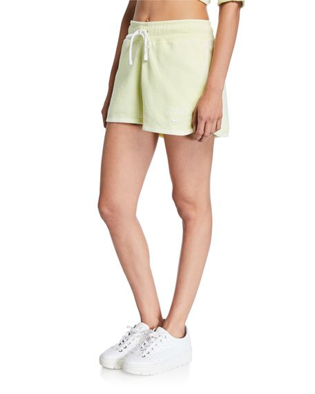 NSW Drawstring Cotton Shorts, Green