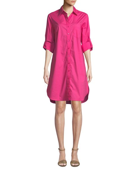 Alex Button-Front Shirtdress