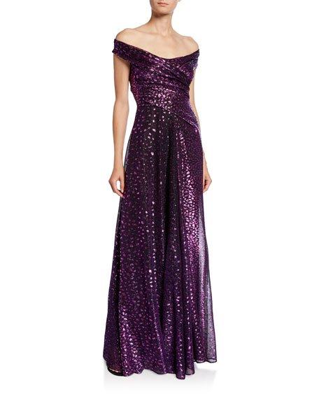 Tolinda Off-the-Shoulder Gown