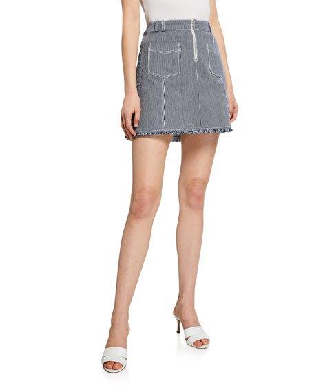 Furia Railroad Stripe Mini Skirt
