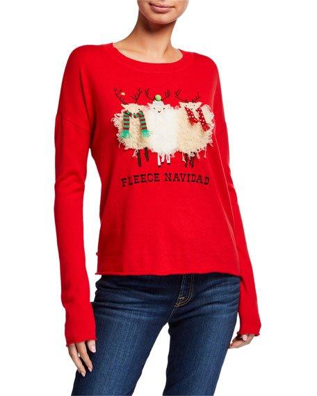 Petite Fleece Navidad Holiday Sweater