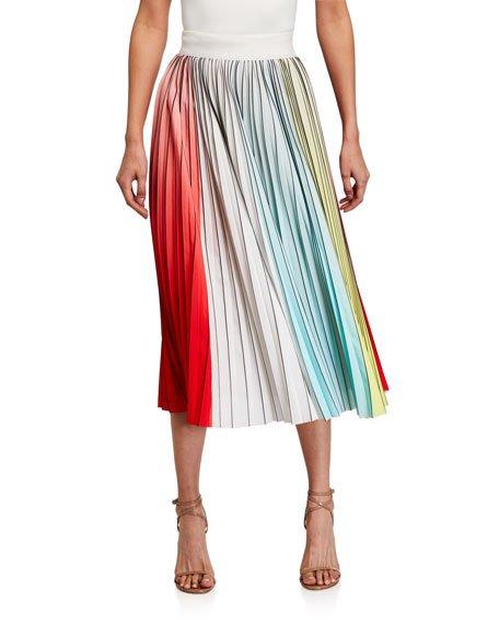 Arden Pleated Midi Skirt
