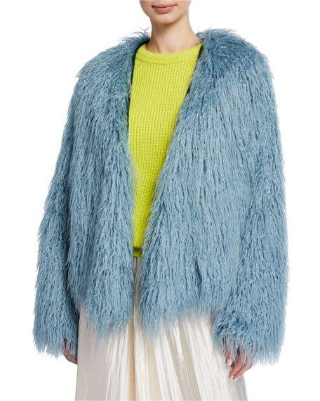 Mongolian Shaggy Faux Fur Coat