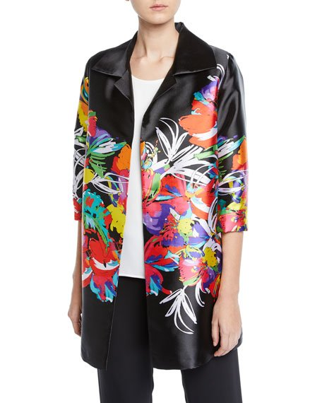 Plus Size Tropical Punch Party Jacket