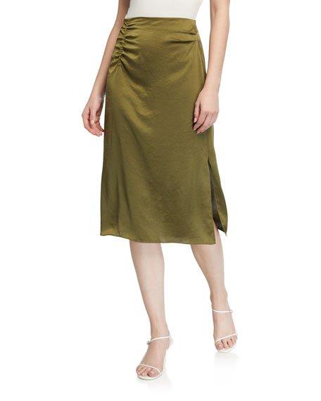 Justine Satin Skirt