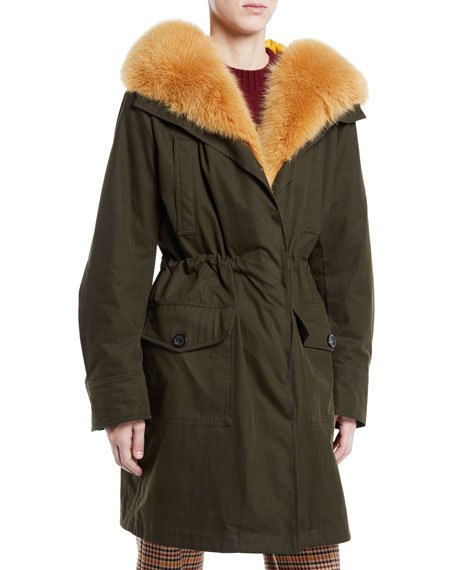 Hypolais Trench Coat w/ Fur Lining