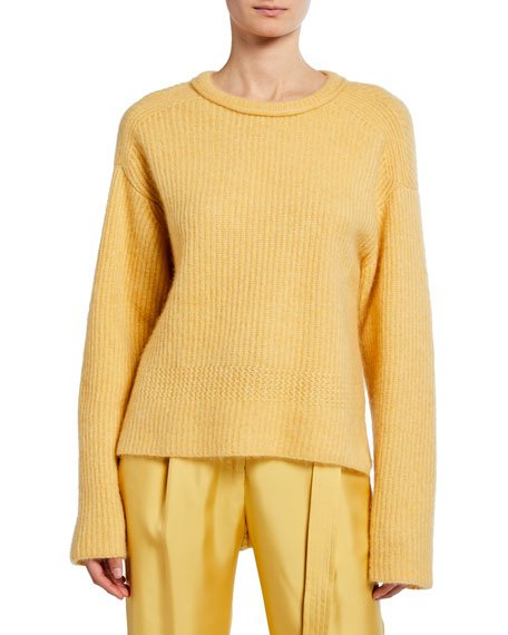 Airy Cashmere/Silk Ribbed Sweater