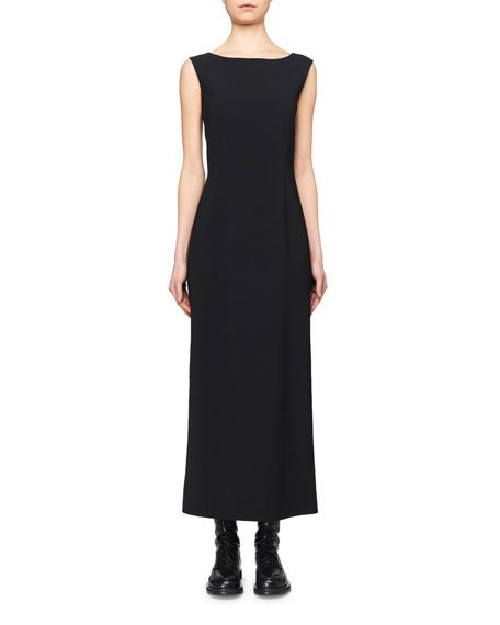 Riah Bateau-Neck Midi Dress
