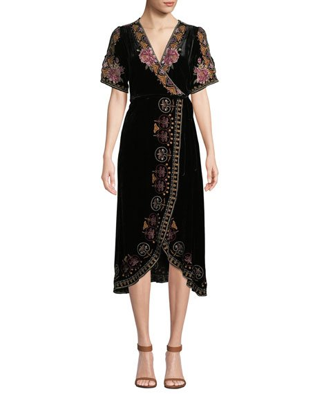 Plus Size Joanna Velvet Wrap Dress