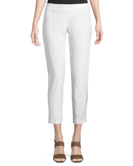 Petite Washable Stretch-Crepe Slim Ankle Pants