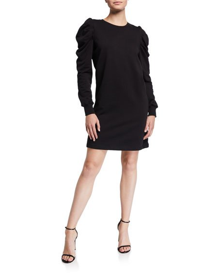 Janine Puff-Sleeve Shift Dress