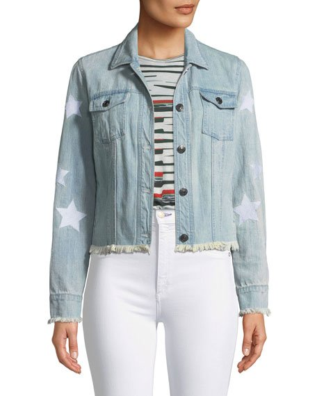 Affleck Frayed Denim Jacket