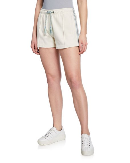 Molly Striped-Trim Drawstring Shorts