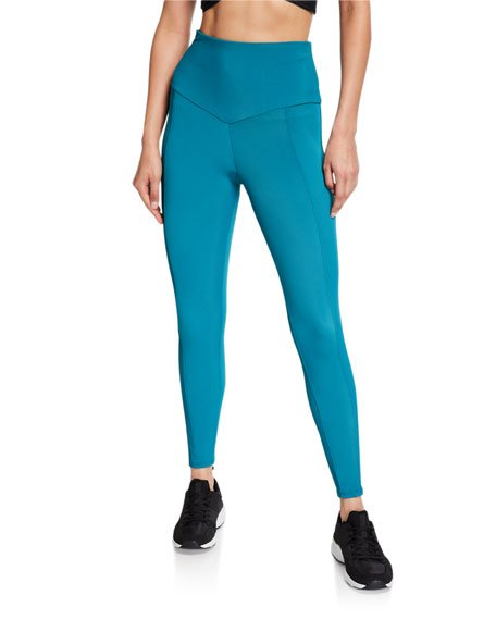 Sweetheart Midi Leggings, Teal
