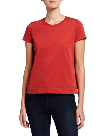 Modern Short-Sleeve Cotton Jersey Tee