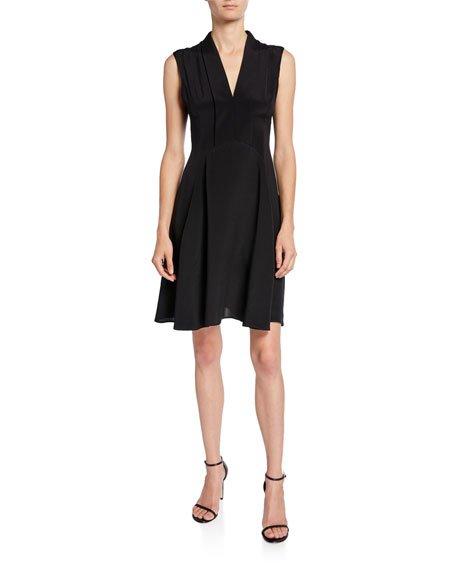 Scarf-Neck Dress