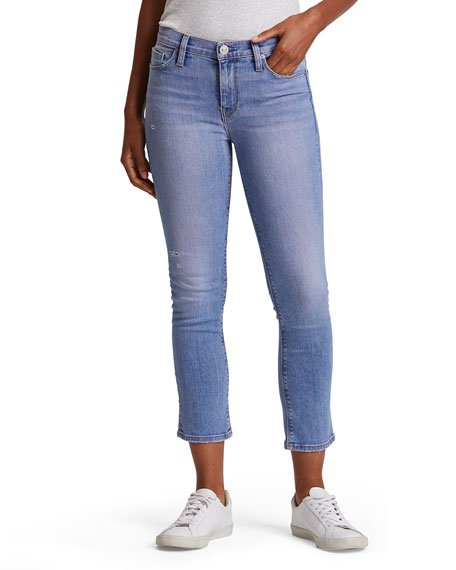 Nico Mid-Rise Crop Straight-Leg Jeans