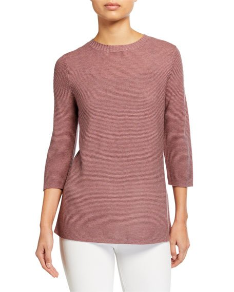 Fine Tencel/Silk Crewneck Sweater