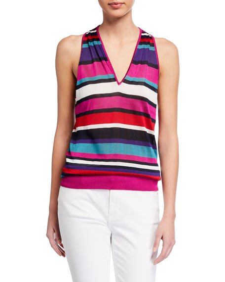 Dale Striped Sleeveless Top