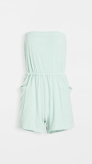 Terry Strapless Romper