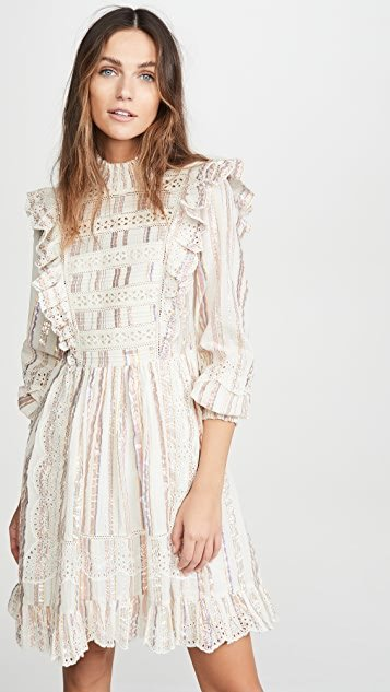 Harriet Long Sleeve Ruffle Dress