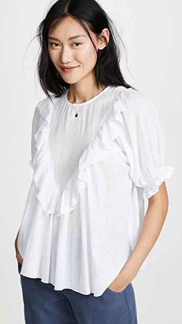 The Ruffle Triangle Top